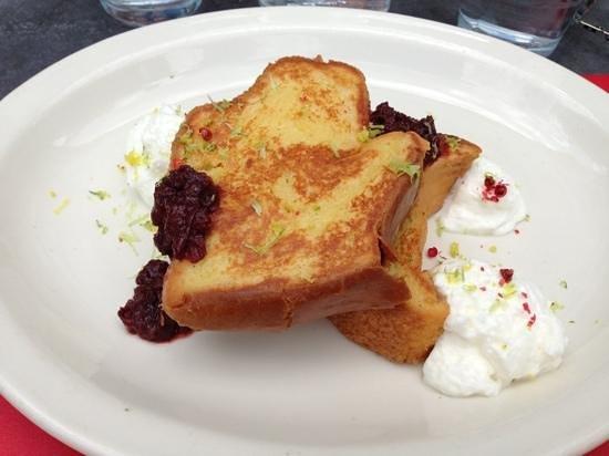 Jam: custard French toast