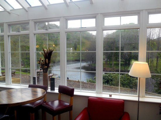 Killin Hotel: View from Conservatory/Dining Area (24.5.13)