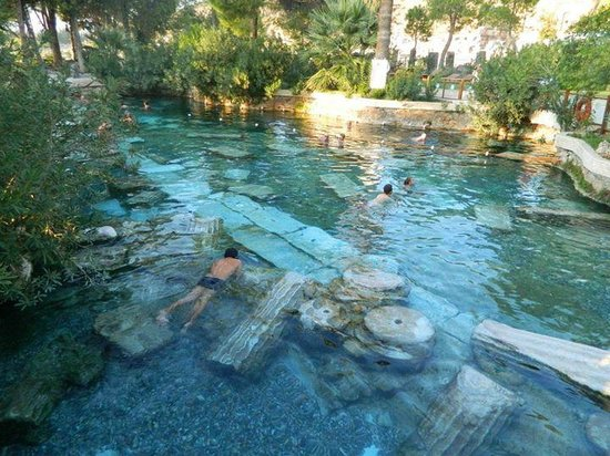 Antique pool, located behind the cascading thermal pools ...
