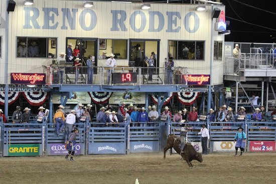 Reno Rodeo Cattle Drive: Bucking bronco at Reno