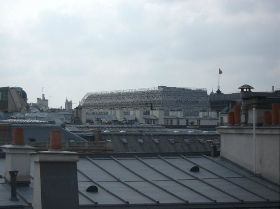 Montpensier: top floor back of hotel view