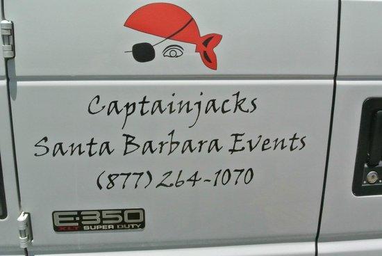 Captain Jack's Santa Barbara Tours: The back of or van