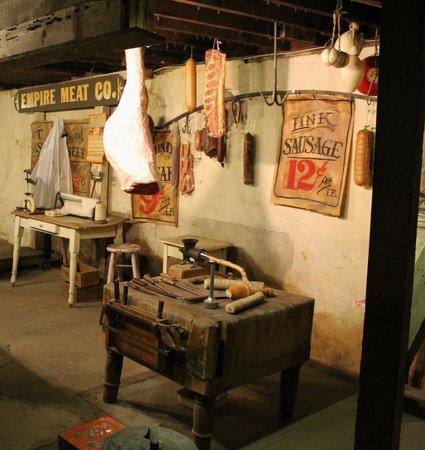 Pendleton Underground Tour: Underground meat market