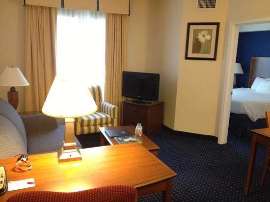 Residence Inn Chantilly Dulles South: room 221 living area