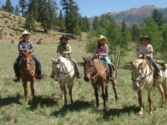 Tarryall River Ranch: My Grandkids on their horses.