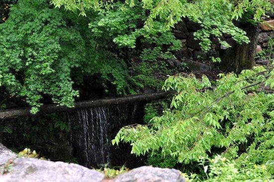 Soswaewon: waterfall from the bamboo pipeline