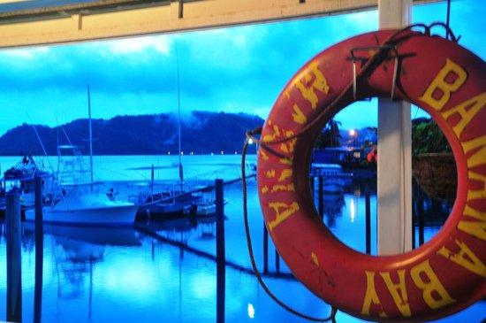 Banana Bay Marina Restaurant: View from the dock at dusk