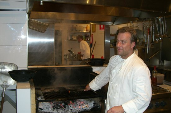 Michael Jaggard in the Apple Bar kitchen.