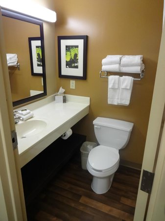 Extended Stay America - Pittsburgh - Carnegie : You had to step aside and around toilet to be able to close the door!