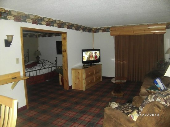 Quality Inn : Living/ Bedroom Area