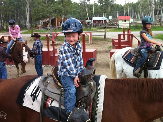 Jasper Riding Stables: Leo playing cowboy
