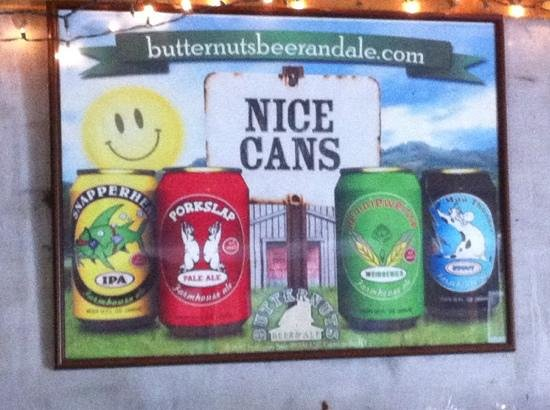 Butternuts Beer and Ale: Nice Cans