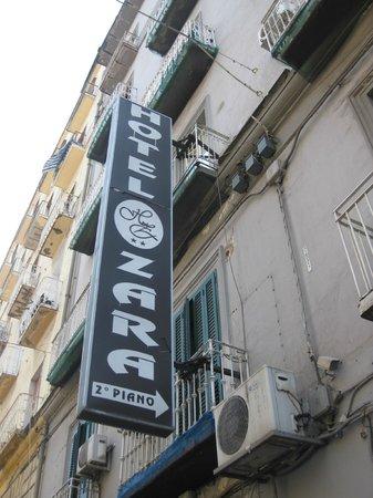 Hotel Zara: signboard