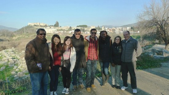 Apasas Tours : Our Ephesus group with Nizam!