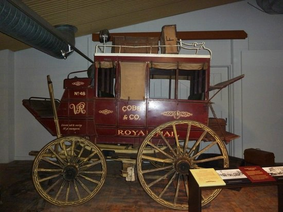 Cobb+Co Museum: View of original coach