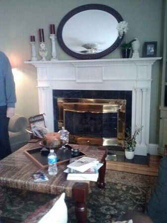 Miners Pick Bed and Breakfast: fireplace