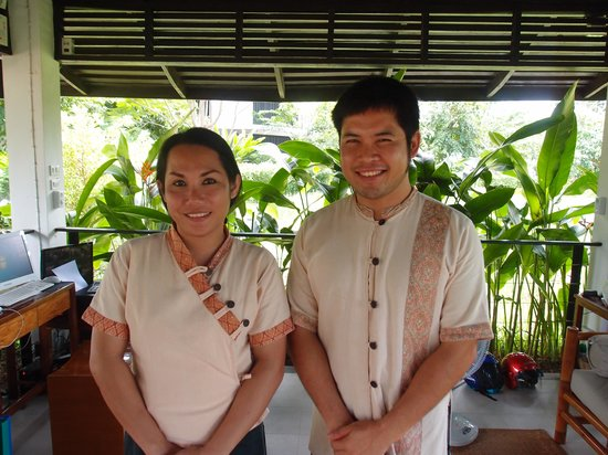 The River Resort : Great reception staff: Ms Olam Rasaphonh and Mr Wheay