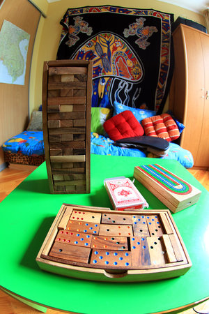 Kiev Central Station Hostel: board games