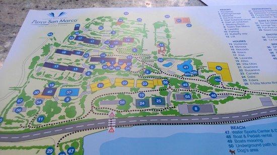 Parco San Marco Lifestyle Beach Resort: Cartina Posto