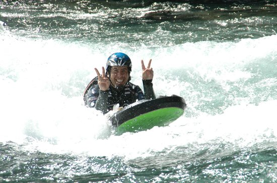 Heidal Rafting Day Trips: Fun in the river with riverboarding!