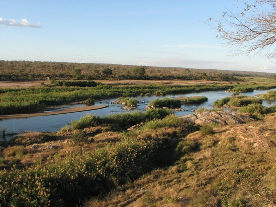 Marloth Park, Republika Południowej Afryki: View of Crocodile River, Kruger National Park, from the lookout point