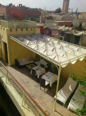 رياض كوكون: Terrasse vue d'en haut
