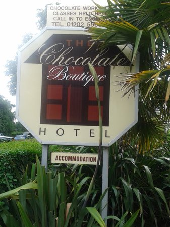 The Chocolate Boutique Hotel: The front entrance