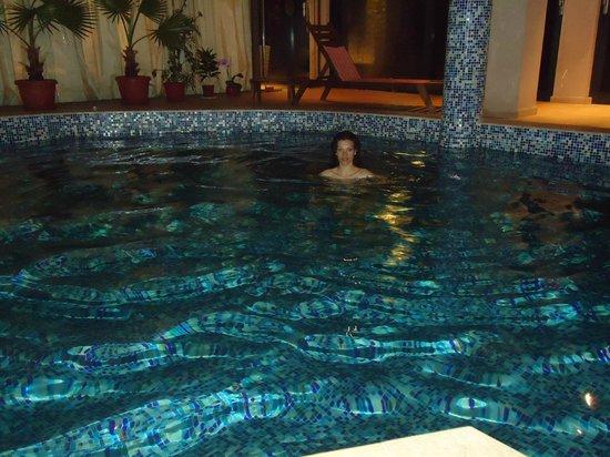 Regina Maria Spa Design Hotel: swimming pool at night