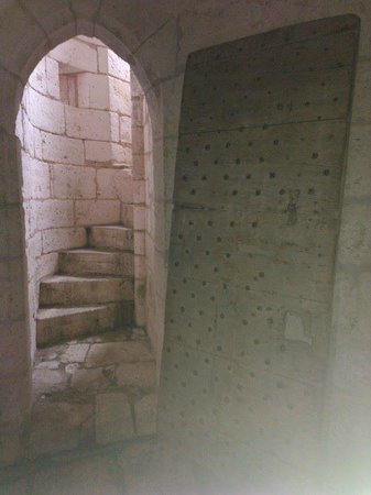 Chateau de Bourdeilles: The spiral staircase