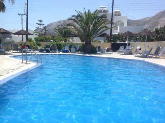 around the pool at the hotel avra