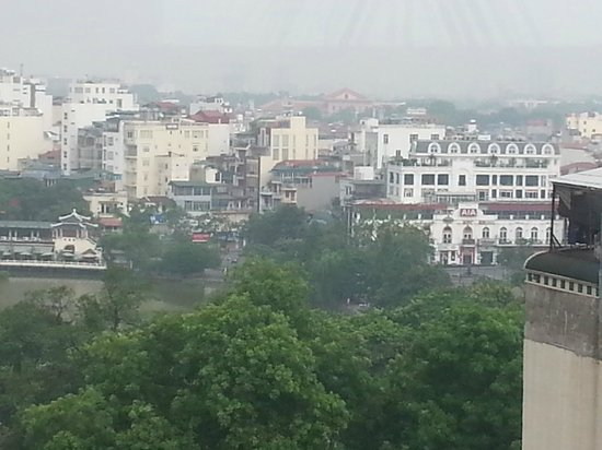 Authentic Hanoi Hotel: View of Hanoi from the 10th floor Restaurant