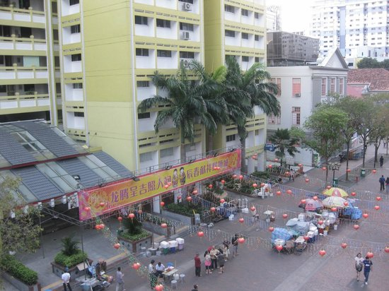 South East Asia Hotel: view from our room
