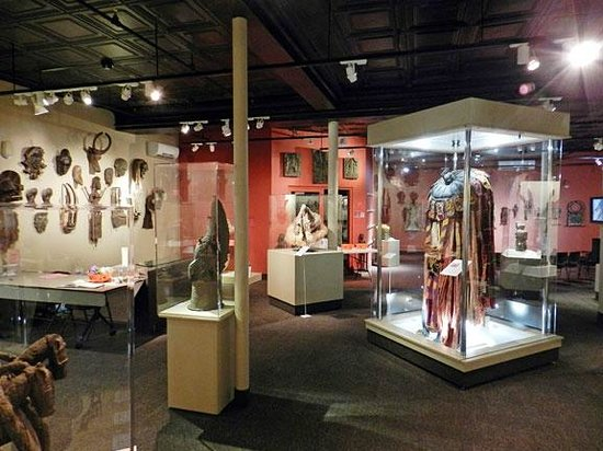 Clinton, MA: A view of the Gallery of African Art