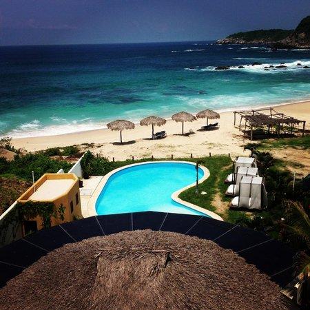 Manta Raya Hotel: vista desde la habitación 7