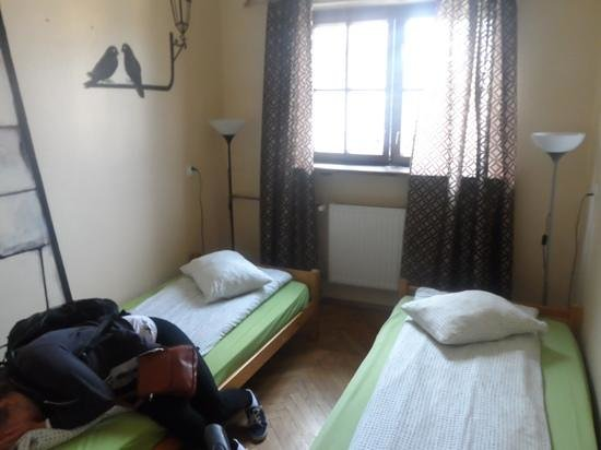 Cracow Hostel: private twin room with shared bathroom