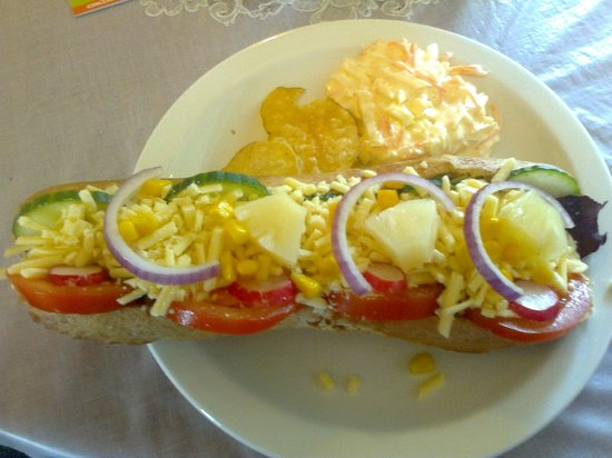 Sand Bay Tea Rooms: Cheese Salad Baguette