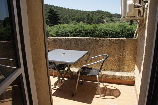Hotel Restaurant Fabian des Baux: La terrasse de notre chambre