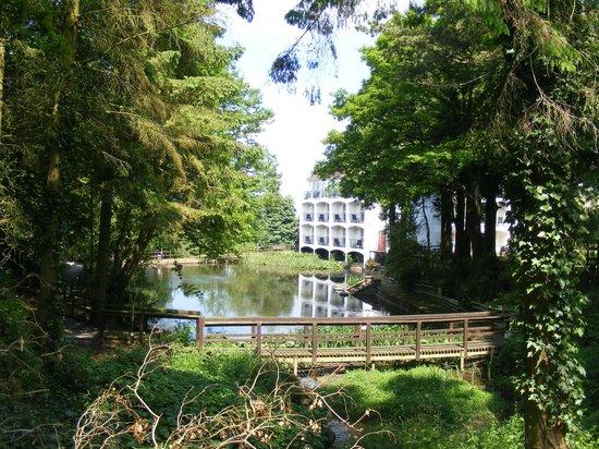 Buckatree Hall Hotel: Balcony rooms overlooking pond