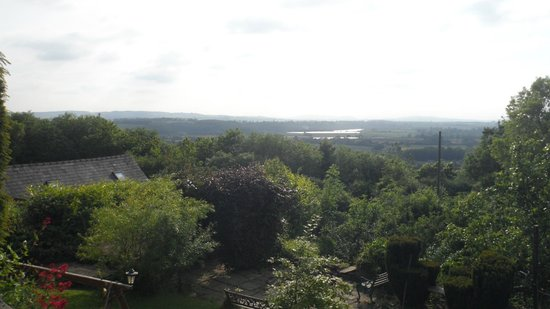 The Hill House: View across the gardens.