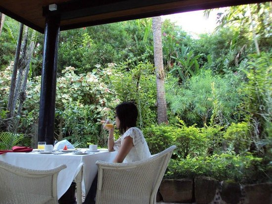 The Fiji Orchid : View of their dinning/seating area