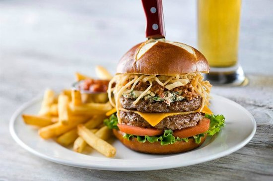 The Kitchen Sink Burger - Picture of Kelsey\'s Neighborhood Bar ...