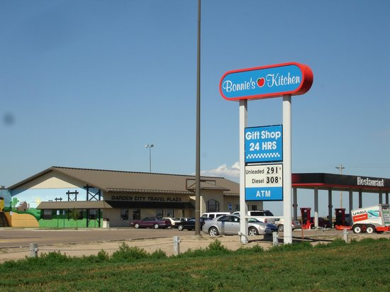 Our sign in front of Garden City Travel Plaza Picture of