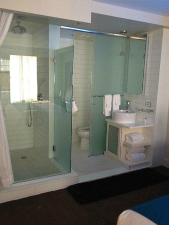 Hotel Le Bleu: Cool glass enclosed bathroom