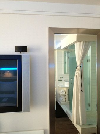 Hotel Le Bleu: TV/mirror