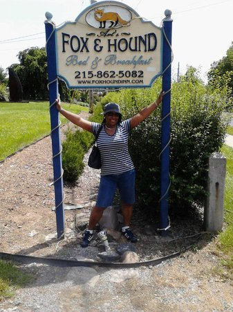 Fox and Hound Bed and Breakfast of New Hope: Me at the B&B.
