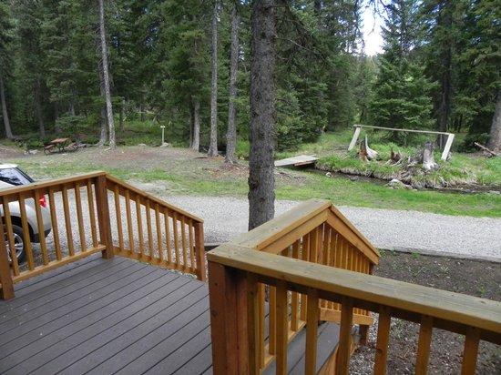Yellowstone Koa Mountainside: View from deck