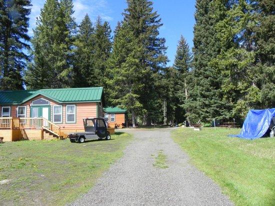 Yellowstone Koa Mountainside: Looking in towards the cabins