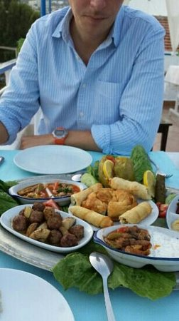 Sofra Terrace Restaurant: Meze feast at sofra. ..best of holiday