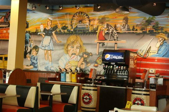 A&W Restaurant: Painted wall