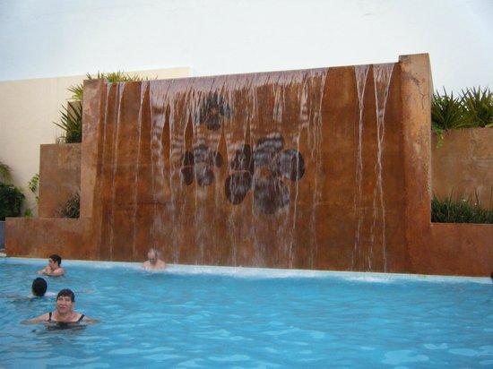 Las Flores Beach Resort: cascada en la alberca